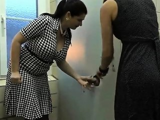 Two Mature Found A Hole In Public Toilette Nuvid