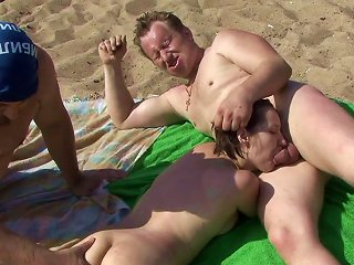 Outdoor Trio Along Steamy Chick