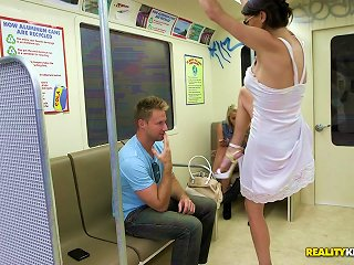 Amazing Violet Raye Goes Hardcore In A Public Train