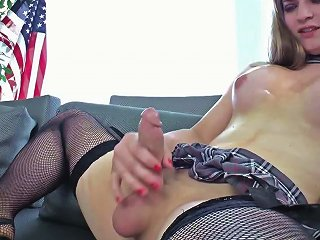 Tempting Tranny Tiffany Starr Strokes Her Mouthwatering Dick