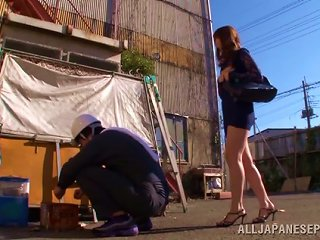Public Sex Down An Alley With A Sexy Japanese Girl In A Skirt
